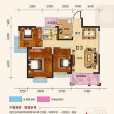 世纪远太城三期D3户型图