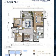 华丽·雅苑D1/G1户型图