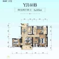 碧桂园·天玺YJ140B户型图