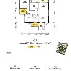 中央大道5期·天誉CD1户型图