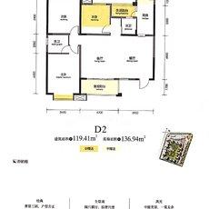 中央大道5期·天誉D2户型图