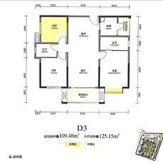 中央大道5期·天誉CD3户型图